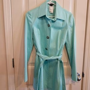 Turquoise Trench with Jewel Buttons Size 6